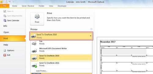 Convert Outlook Calendar to PDF